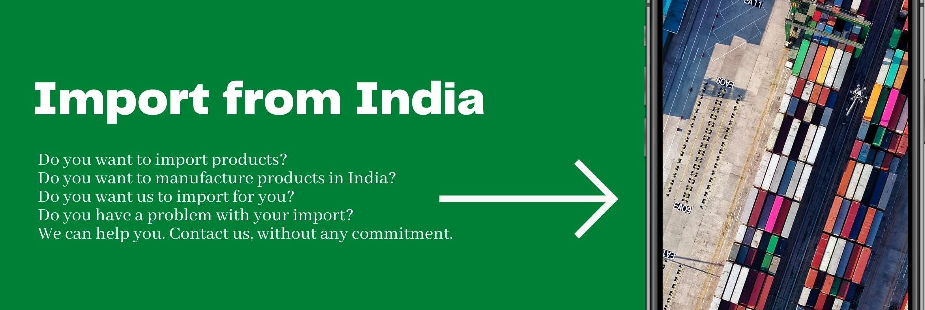Import from India. Imports and import from India