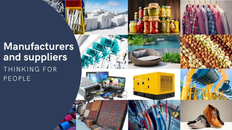Suppliers and manufacturers