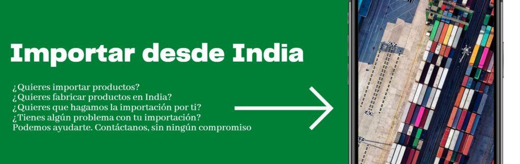 Importar de la India, importación de productos de india